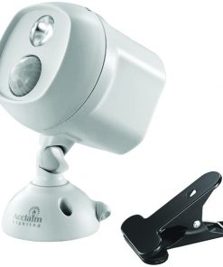 Acclaim Lighting(R) B222GR Motion-Activated LED Spotlight with Clamp (Dove Gray)