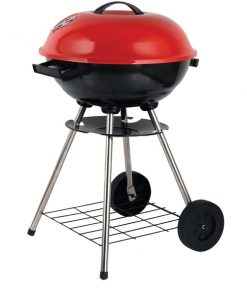 "Brentwood Appliances BB-1701 17"" Portable Charcoal BBQ Grill with Wheels"