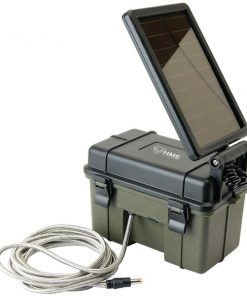 HME(TM) HME-12VBBSLR 12-Volt Battery Box with 2-Watt Solar Panel