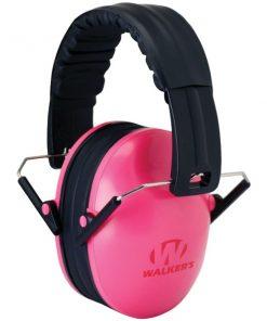 Walker's Game Ear(R) GWP-FKDM-PK Youth Folding Muff (Pink)