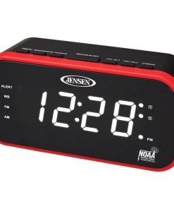 JENSEN(R) JEP-150 AM/FM Weather Band Clock Radio with Weather Alert