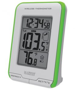 La Crosse Technology(R) 308-1410GR Digital Indoor/Outdoor Thermometer