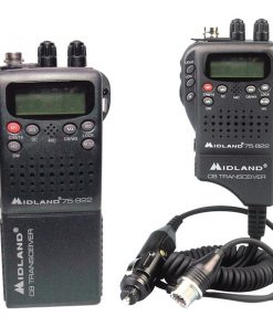 Midland(R) 75-822 Handheld 40-Channel CB Radio with Weather/All-Hazard Monitor & Mobile Adapter