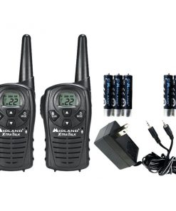 Midland(R) LXT118VP 18-Mile GMRS Radio Pair Value Pack with Charger & Rechargeable Batteries