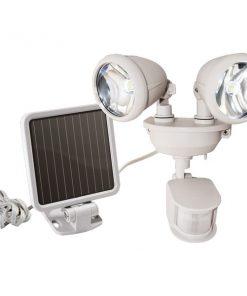 MAXSA(R) Innovations 44218 Dual-Head Solar Spotlight (Off White)