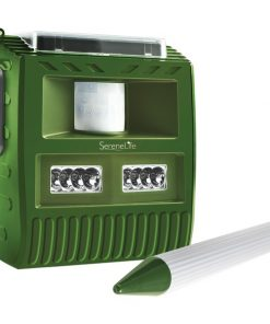 Serene Life AZPSLBAR8 Waterproof Solar-Powered Animal Repeller