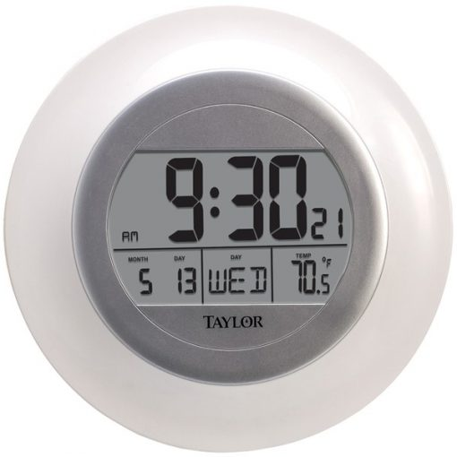 Taylor(R) Precision Products 1750 Atomic Wall Clock with Thermometer