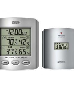 Taylor(R) Precision Products 91756 Wireless Thermometer with Indoor/Outdoor Humidity & Clock