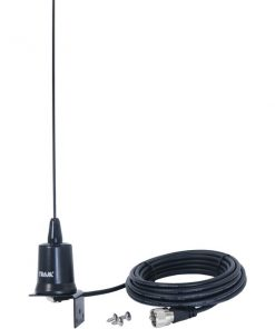 Tram(R) 10250 Tunable 144MHz-174MHz Tunable VHF 3dBd Gain Trunk or Hole Mount Antenna Kit with PL-259 Connector
