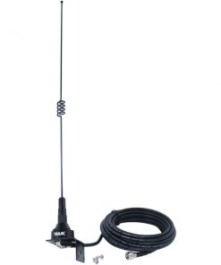 Tram(R) 10281-MUHF Pre-Tuned 140MHz-170MHz VHF/430MHz-470MHz UHF Dual-Band Trunk or Hole Mount Antenna Kit with Mini-UHF Male Connector
