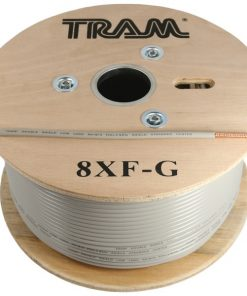 Tram(R) 8XF-G RG8X 500ft Roll Tramflex Double Shield Coaxial Cable with Gray Jacket
