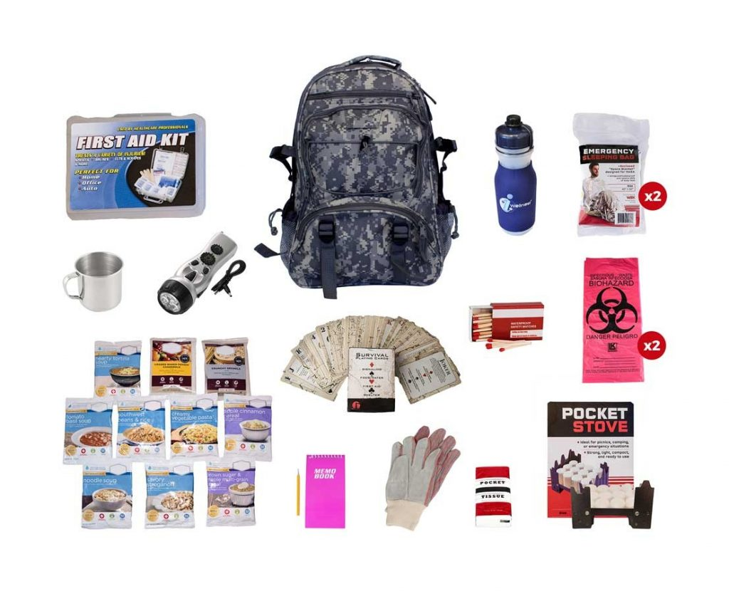 camo survival pack